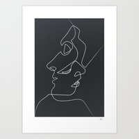 Art Prints featuring Close Noir by quibe