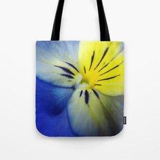 Flower Blue Yellow Tote Bag
