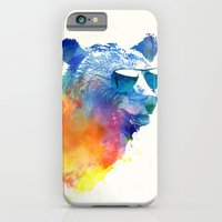 iPhone Cases featuring Sunny Bear by Robert Farkas