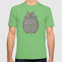 Avocado Totoro Mens Fitted Tee Grass SMALL