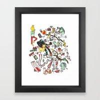 Packing List Framed Art Print
