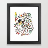 Packing List Framed Art Print