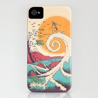 iPhone Cases featuring Surf Before Christmas by Victor Vercesi