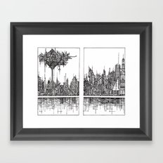 The City of our Tallest Fears Framed Art Print
