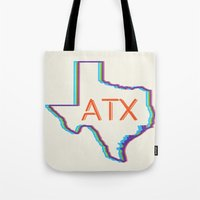ATX Austin, Texas Retro Neon Lights Tote Bag
