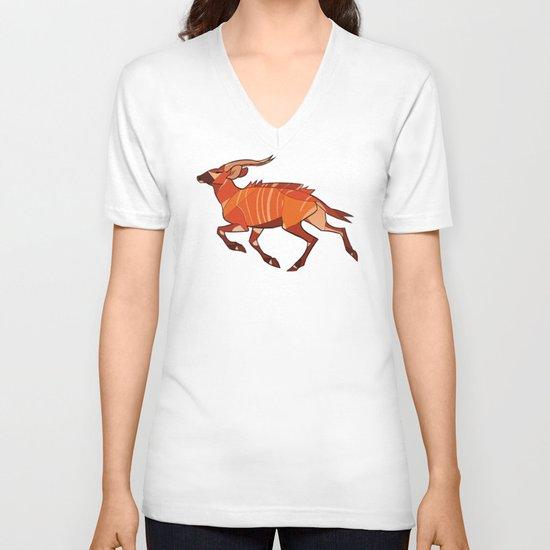 Bongo Antelope V-neck T-shirt