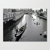 Condola At Waterfire In … Canvas Print