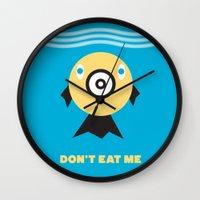 Don't Eat Me Vegan Fishi… Wall Clock