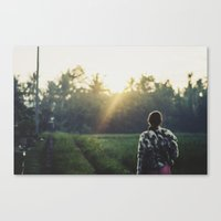Watching the sunrise, Bali Canvas Print
