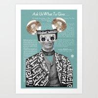 Felix Polaroid Art Print