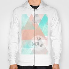 Watercolor Triangles Hoody