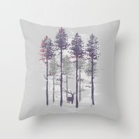 The trance of a deer Throw Pillow