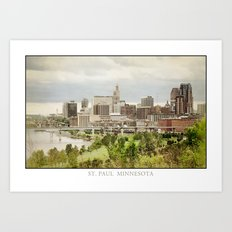 St. Paul Minnesota Art Print