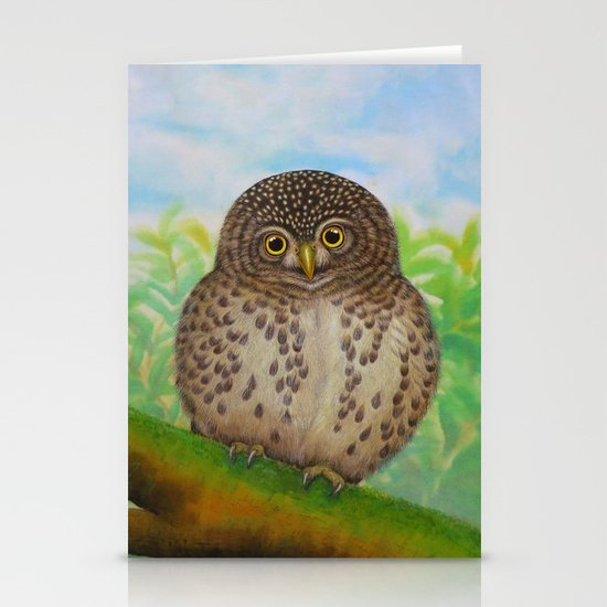 Collared Owlet Stationery Card