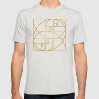 Golden Waves Mens Fitted Tee Silver SMALL
