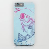 Bass jumping In Blue Circle3 iPhone 6 Slim Case