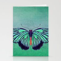 Butterfly in Spring Green Stationery Cards