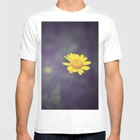 Miss Yellow Daisy Mens Fitted Tee White SMALL