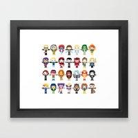 WOMEN WITH 'M' POWER Framed Art Print