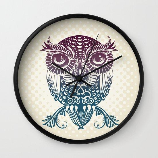 Baby Egyptian Owl Wall Clock