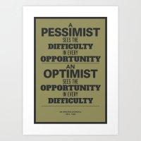 Pessimist / Optimist Art Print
