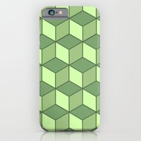 Lime cubes iPhone 6 Slim Case