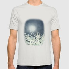 Silver Moon Mens Fitted Tee Silver SMALL