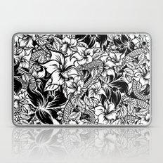 Snaky Fleur, Black 'n White Laptop & iPad Skin