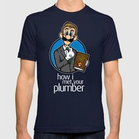 How I Met Your Plumber Mens Fitted Tee Navy SMALL