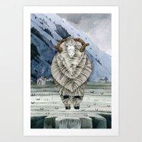 One Sheep Art Print