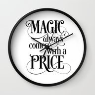 Magic Always Comes With … Wall Clock