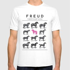 FREUD White Mens Fitted Tee SMALL