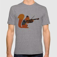 Red Squirrel Serenade Mens Fitted Tee Athletic Grey SMALL
