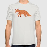 Vulpes Mens Fitted Tee Silver SMALL