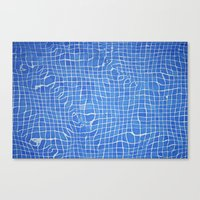Abstract Blue Background… Canvas Print