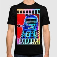 Dalek; Doctor Who; Exterminate Mens Fitted Tee Black SMALL