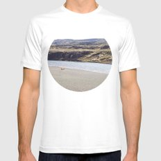 In the middle of nowhere, Iceland White SMALL Mens Fitted Tee