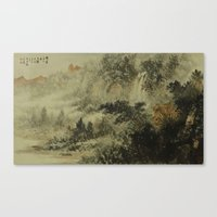 In crossing the river Canvas Print