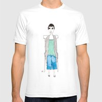 Girl In Another Chair Mens Fitted Tee White SMALL