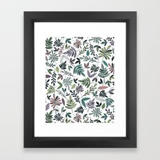 Black Border Leaves  Framed Art Print