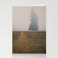 Hiking In The Fog Stationery Cards
