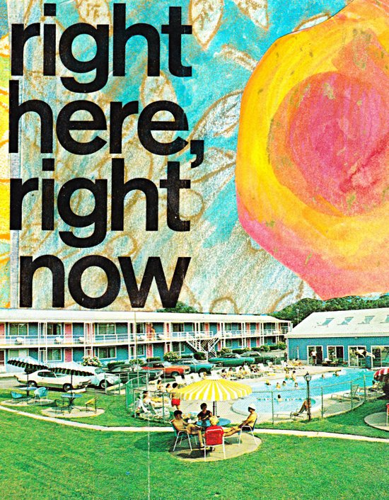 right here, right now Art Print