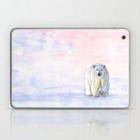 Polar Bear In The Icy Da… Laptop & iPad Skin