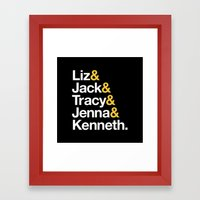 30 ROCK Framed Art Print