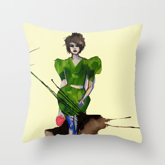 Models Ink 11 Throw Pillow
