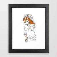 Muchaesque Ballet Girl Framed Art Print
