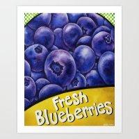 Fresh Blueberries Art Print