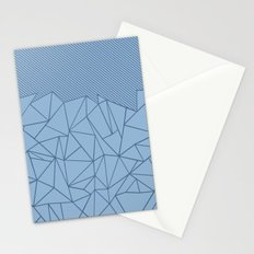 Ab Lines 45 Blues Stationery Cards