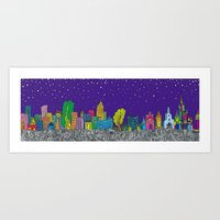 A night on the Town Art Print