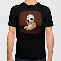 Voodoo Doll Cartoon In L… Mens Fitted Tee Black SMALL